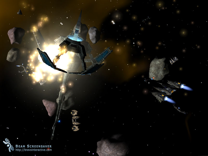 Beam screensaver interactive space battle 3d screensaver - Battlefield screensaver ...